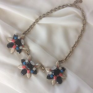 Talbots Chunky Statement Multi Color Necklace.